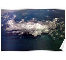 Clouds over the Caribbean Poster