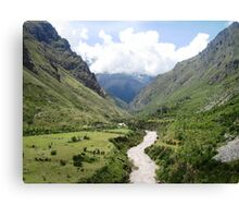 Inca Hike Canvas Print