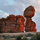 Balanced Rock, Arches National Park, Utah. by Ian Berry