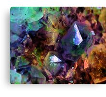 Colorful Crystal Psychedelic Design  Canvas Print