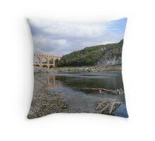 Pont Du Gard - Roman Aqueduct Throw Pillow