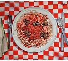 Albondigaphobia (Fear of Meatballs) Photographic Print