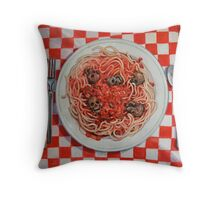 Albondigaphobia (Fear of Meatballs) Throw Pillow