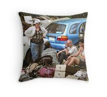 Brisbane Floods 2011 - Clean Up - Weary Workers Throw Pillow