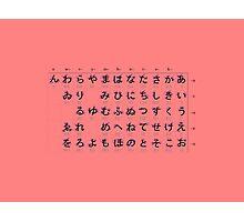 Hiragana Graph Photographic Print