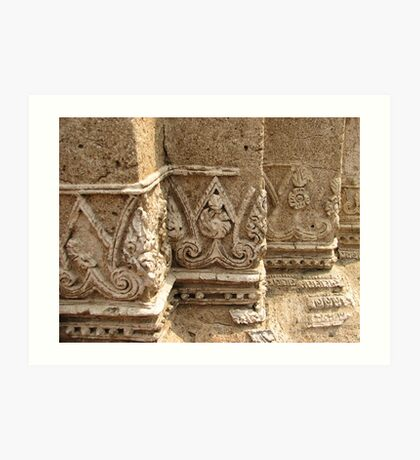Temple Carving Art Print