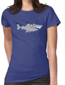Hipster Nerd shark Womens Fitted T-Shirt