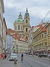 Karmelitska Street to Church of St Nicholas  by Graeme  Hyde
