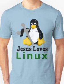 Jesus Loves Linux T-Shirt
