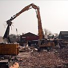 Demolition of Knowsley Road St Helens  by Tony  Glover