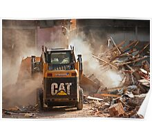 Demolition of Knowsley Road St Helens  Poster