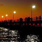 Port Noarlunga Jetty @ night by Ali Brown