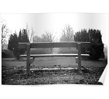 Black and White Bench Poster