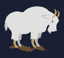 White mountain goat Kids Tee