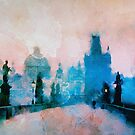 Sunrise over Prague  by rosalin