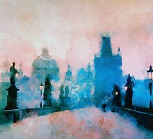 Sunrise over Prague  by rosalin