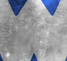 Wrongtown W Logo - Blue Distressed Sticker