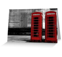phone box colour pop Greeting Card