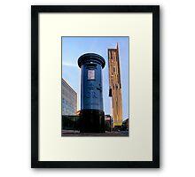 blue post box.. Framed Print