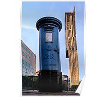 blue post box.. Poster
