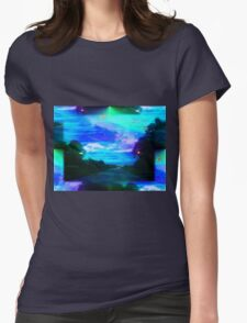 Vaporwave-Spectrum Road Womens Fitted T-Shirt