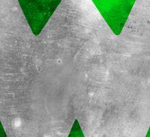 Wrongtown W Logo - Green Distressed Sticker