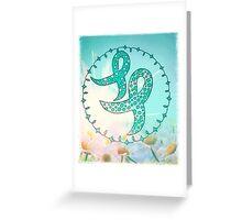 Ovarian Cancer Awareness Ribbons Greeting Card