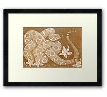 Prairie rattlesnake Framed Print