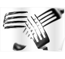 Cutlery Chaos...(2) B&W Poster