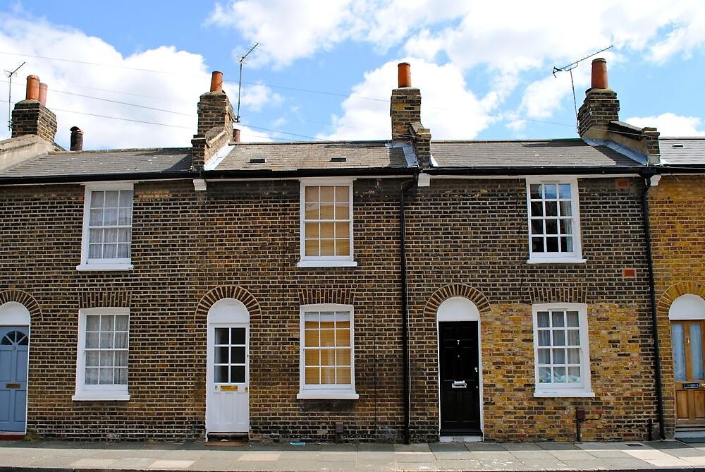 Row houses . South London. by richard  webb