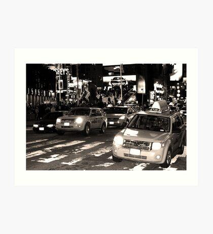 Cabs Art Print
