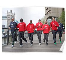 Photocall for the London marathon 2011 Poster