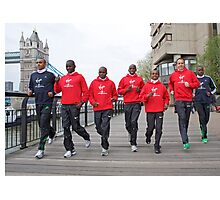 Photocall for the London marathon 2011 Photographic Print
