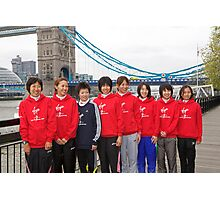 Japanese Elite runners for the london Marathon 2011 Photographic Print