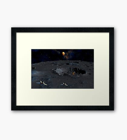 Space Patrol HQ - Tarris Moon Framed Print