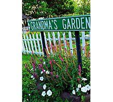 Grandma's Garden Photographic Print