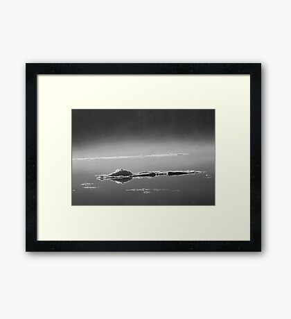 Beware - The Ice Gator Framed Print