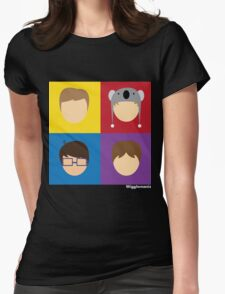 Color Squares Womens Fitted T-Shirt