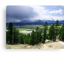 Kootenay Valley and Wetlands Canvas Print