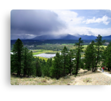 Kootenay Valley and Wetlands Canvas Print