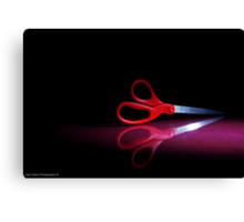 Cutting Red Canvas Print