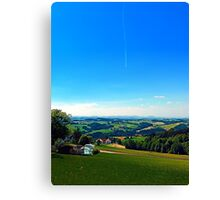 Condensation trail with some scenery Canvas Print