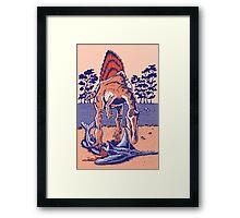 Spinosaurus the Hunter Framed Print
