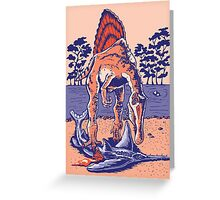 Spinosaurus the Hunter Greeting Card