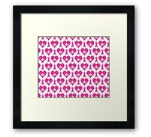 Think Pink Hearts and Fleur de Lis Pattern Framed Print