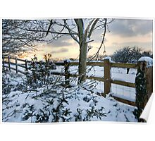 The snow fence  Poster