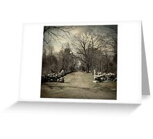 A Walk to Remember-Odiorne State Park, Portsmouth, NH. Greeting Card