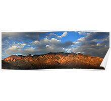 Sandia Crest at Sunset Poster