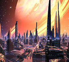 Exquisita City - Planet Calvos by SpinningAngel