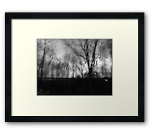 Grey, rainy Saturday Framed Print